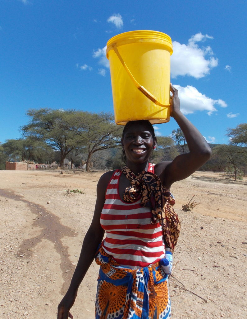 With newly rehabilitated boreholes right in the communities, women no longer need to walk for hours to find a source of fresh water.