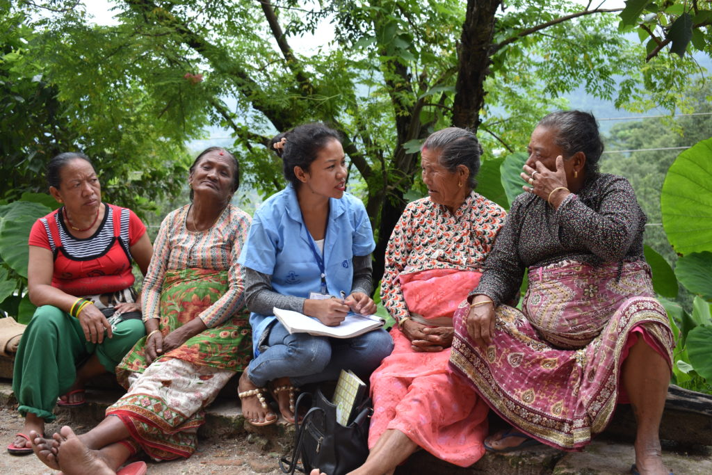 Amita, a community health worker from Nepal