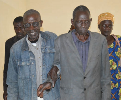 Bernard (with glasses) is one of 72 community health volunteers trained at Kitale District Hospital.