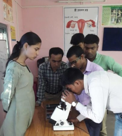 Program Officer at Operation Eyesight partner hospital trains vision technicians to use equipment