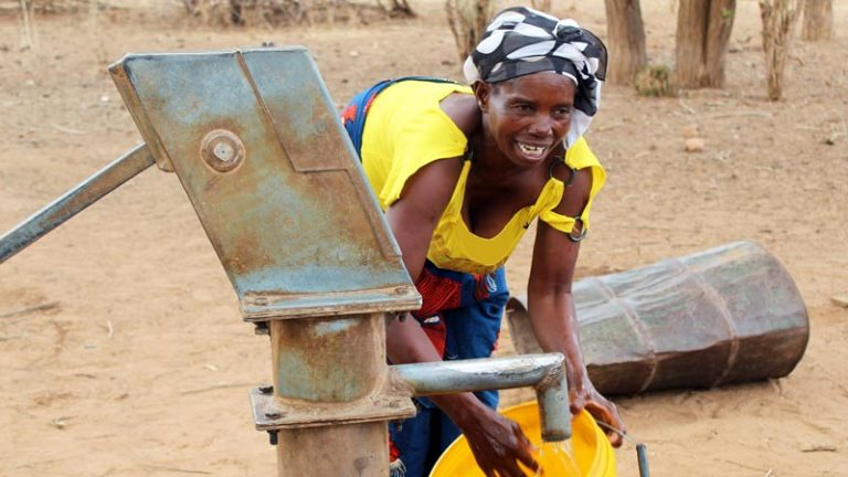Access to clean water improves health and opportunities for a mother and her children